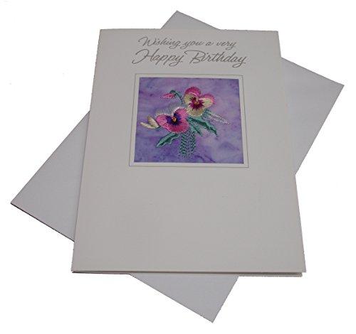 Ekard Geborduurd Verjaardagskaart GRATIS UK POSTAGE
