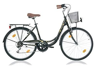 Altec 28 Zoll Damen CITYFAHRRAD City Bike Fahrrad CITYRAD CITYBIKE Rad Shimano 7 Gang Milano SCHWARZ