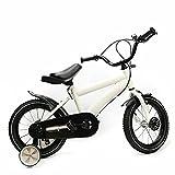 Bicicleta infantil de 14 pulgadas con ruedas de apoyo (blanco)