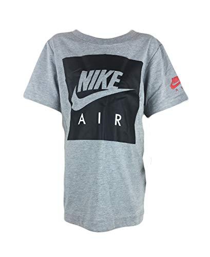 Nike Kinder Air Box Logo T-Shirt, Dk Grey Heather, 110