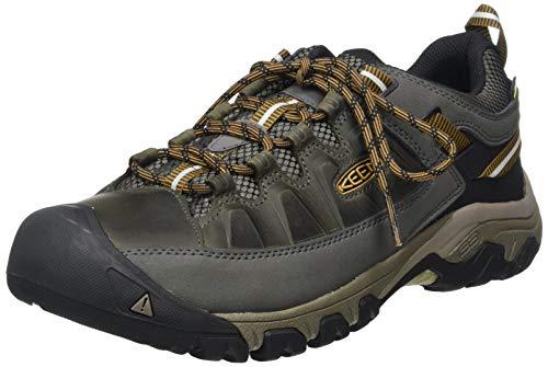 Keen Herren Targhee III WP Trekking-& Wanderhalbschuhe, Mehrfarbig (Black Olive/Golden Brown), 45 EU