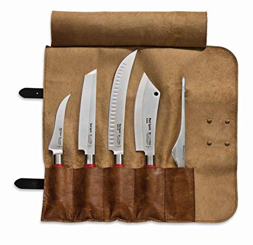 F. DICK Red Spirit 81768000 - Set di coltelli da scioglimento in pelle di bufalo, coltello da cucina AJAX, pinzetta per bufalo X55CrMoV14, acciaio inossidabile, 56° HRC