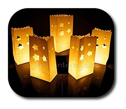 Bolsas decorativas para velas, Linternas de papel bolsas - 30 unidades, diseño de estrella