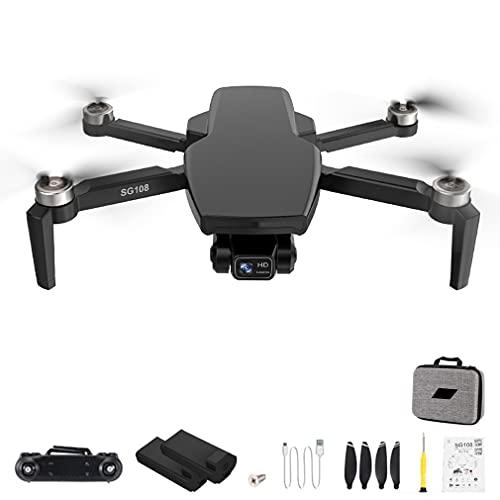 RHNE SG108 Pro 4K Drone 2-Axis Gimbal Cámara Profesional GPS 5G WiFi FPV Dron Sin escobillas Larga Distancia 1000m RC Quadcopter Negro 2 * baterías