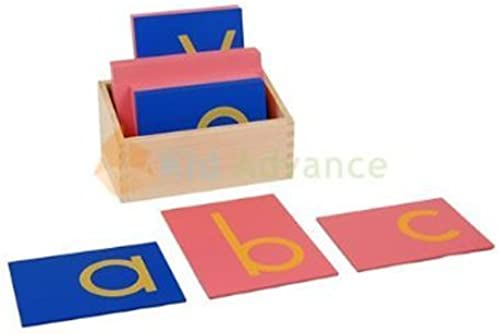 Montessori Lower Case Sandpaper Letters w  Box by Kid Advance Co.