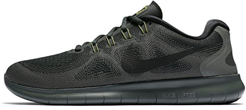 Nike Free Rn 2017, Men's Running Shoes, Grey (Outdoor Green/River Rock/Black/Black), 7 UK (41 EU)