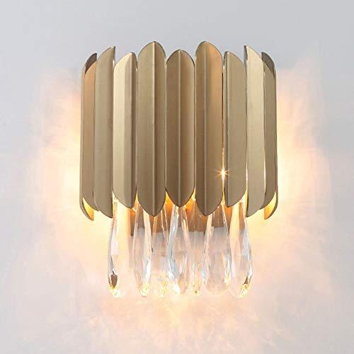 TYXL Luz de pared Post-moderna Sala De Nordic Modelo De Lámpara De Pared Grande De Cristal De Acero Lámpara De Noche Lámpara De Pared Lámpara De Pared De Acero Luz De La Sala De Estar De Lujo Telón De