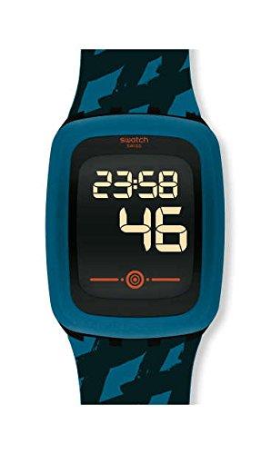 Swatch Reloj Digital para Hombre de Cuarzo con Correa en Silicona SVQB100