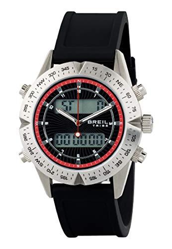Reloj BREIL por Hombre Digital Way con Correa de silicio, Movimiento Doble Tiempo Cuarzo