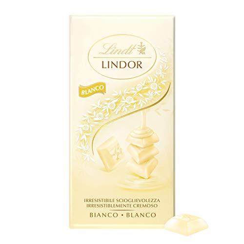 Lindt Lindor Singles Tableta de Chocolate Blanco Cremoso, 100g