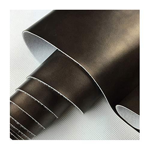 Tela de Cuero de Imitación Cuero Sintético Muebles de Sofá Cuero PU Material de Cuero de Simulación para Tapicería Artesanía Asiento de Automóvil, Café Oscuro(Size:1.38x10m)