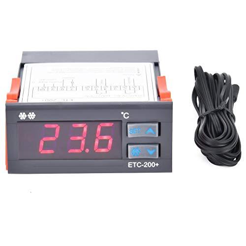 Controlador de temperatura -ETC-200 + Termostato digital Controlador de temperatura de alarma de descongelación de refrigeración 220V