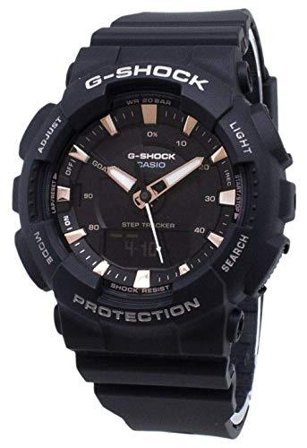 Casio GMAS130PA-1A G-Shock Step Tracker Women's Watch Black 49.5mm Resin