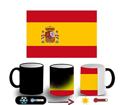 MERCHANDMANIA Taza MÁGICA Bandera ESPAÑA Pais Unido Magic mug