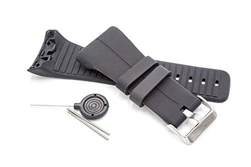 vhbw Armband passend für Polar M400, Polar M430 GPS-Laufuhr, Schwarz Ersatzarmband