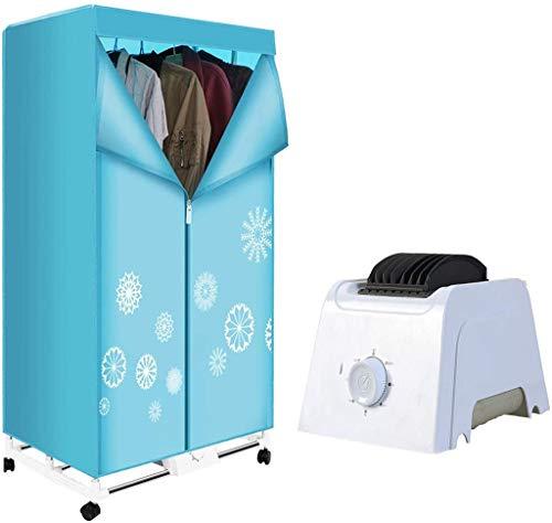 Secadora Ropa Eléctrica Calentamiento del Aire en Interiores Secado Armario, 1000W de Ropa for el hogar móviles con Ruedas de Secado Armario, Que Puede secar rápidamente la Ropa/colchas/Zapatos y