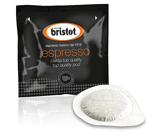 Bristot Single-Serve Coffee Pods | Low Acid | E.S.E. Coffee Pods | Medium Espresso Roast | Pack of 150