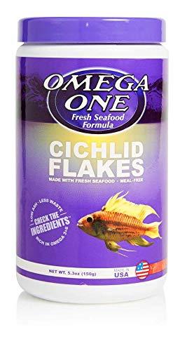 Omega One Cichlid Flakes, 5.3 oz