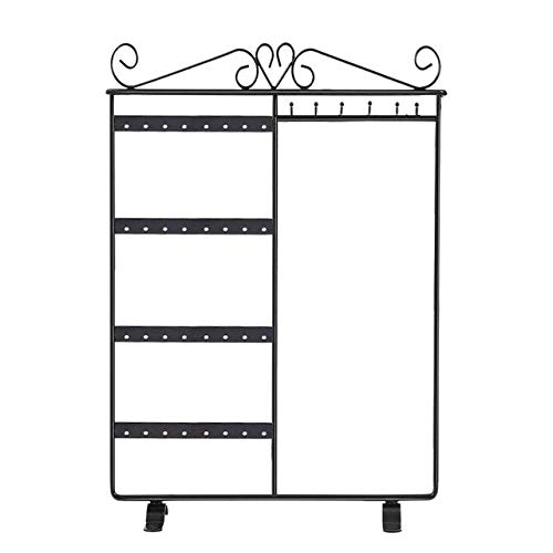 COMPY Soporte de exhibición de joyería Diseño único Caja de Almacenamiento Creativa Pendientes Collar Anillo de Estante y Otros en Blanco y Negro
