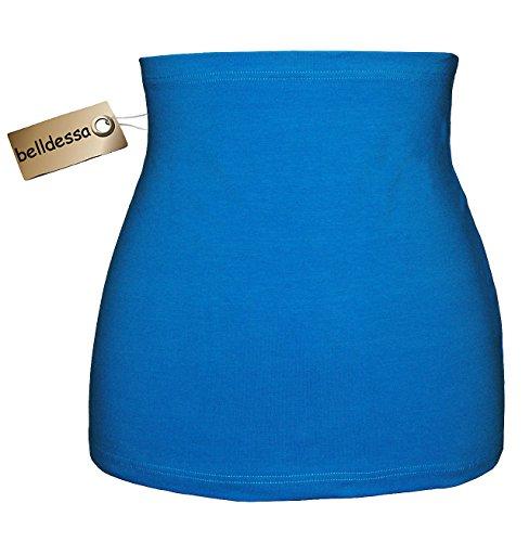 Belldessa Jersey Baumwolle - Azur / türkis blau - Nierenwärmer / Rückenwärmer / Bauchwärmer / Shirt Verlängerer - Größe: Damen Frauen XL - ideal auch für Blasenentzündu..