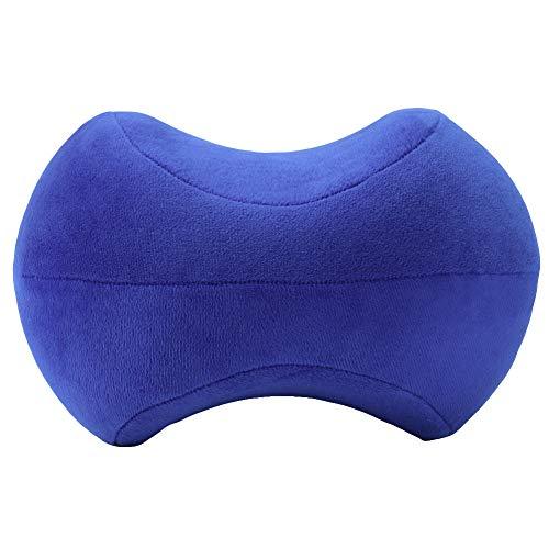 Hetangyuese Orthopädische Memory-Schaum-Kniekissen für Ischias, Rücken, Hüftgelenk, Schmerzlinderung, Seitenliegendes Kissen blau