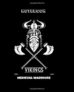 NOTEBOOK VIKING MEDIEVAL WARRIORS: 146 pages to write | JOURNAL DIARY | Viking lovers | Warriors illustrations | Nordic & ...