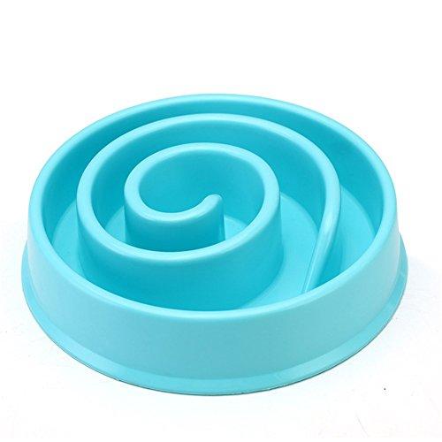 Pet Online Pet Bowl Puzzle Anti Gulp Evitar la obesidad Plástico Bowl para gato y perro, 20.5 * 19.2 * 4.5cm, azul