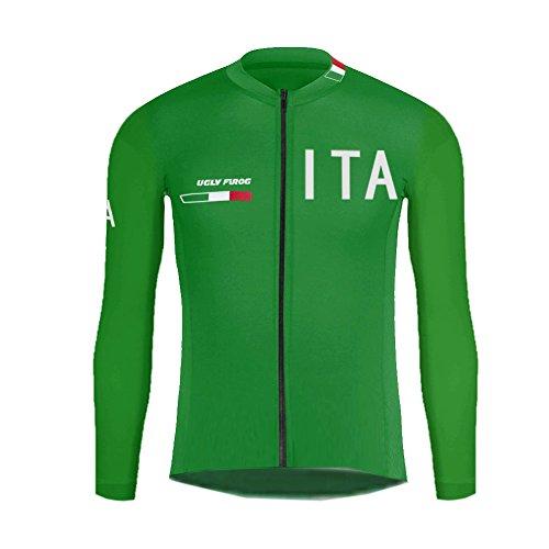 Uglyfrog Invernale Ciclismo Giacca + Calzamaglia Nero hitech Made in Italy Windstopper Termico Bici MTB CX07