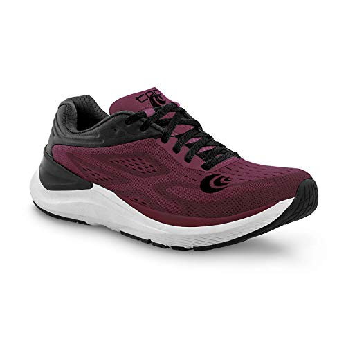 Topo Athletic Women's Ultrafly 3 Breathable Road Running Shoes, Wine/Black, Size: 10