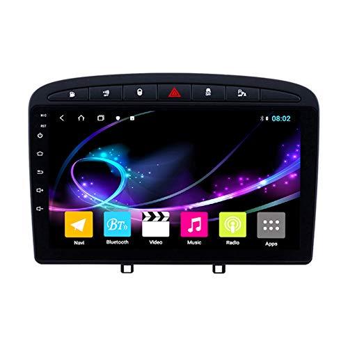 DMMASH Android 10.0 Autoradio Car navigatore Stereo per Peugeot 308 408 2010-2016 9' Touch Screen Supporto Bluetooth/Radio FM/Link Specchio Rear View Fotocamera,8 cores 4g+WiFi:4+64g