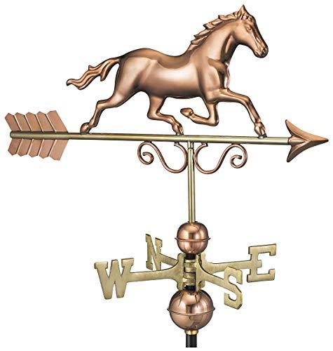 Good Directions Wetterfahne Galoppierendes Pferd, reines Kupfer