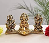 Material :- Metal, Color :- Gold Citrine attracts wealth, prosperity and success. Package Content :- 1 Pc Lakshmi Ganesh Saraswati Diya Citrine attracts wealth, prosperity and success Citrine energises every level of life