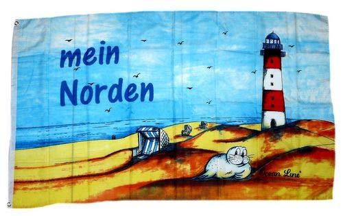 Fahne/Flagge Leuchtturm Mein Norden 90 x 150 cm