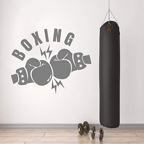 NSRJDSYT Boxhandschuh Clash Silhouette Wandtattoo Sportaufkleber Boxing Gym Wandkunst Dekoration Farbe 70x57cm