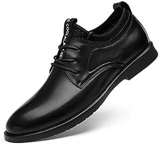[Gladsome] ビジネスシューズ メンズ 紳士靴 革靴 ドレスシューズ 靴 シークレット 高級レザー 外羽根 ストレートチップとモンクストラップ 防水防滑 軽量 通気性 冠婚葬祭 ブラック