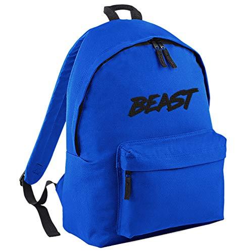 TeeIsland Junior MR Beast Backpack (Royal Blue/Black)