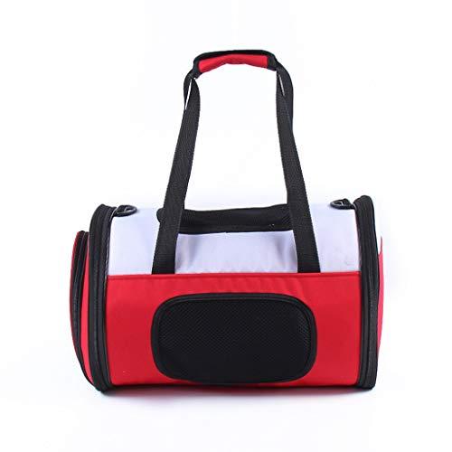 L-XFLX Heimtierbedarf Tragbare Umhängetasche Travel Große Kapazitätstasche einfache atmungsaktive Reisetasche (Farbe : Rot)