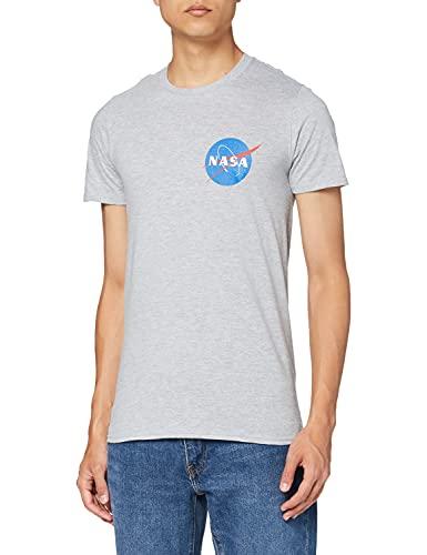 Nasa Herren Core Logo T-Shirt, Grau (Sports Grey SPO), Medium