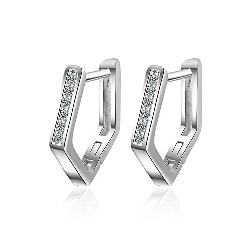 DFDLNL Pendientes MujerPendientes geométricos Mujer Boucle D'oreille Pendientes Plata