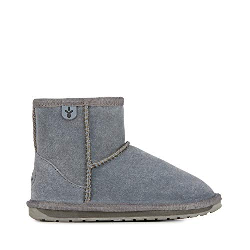 Boot EMU Stivale bambina grigio antracite camoscio, nuova collezione autunno inverno 2017/2018