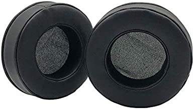 1 Pair of Artificial Leather Ear Pads Cushion Cover Earpads Replacement for Samson SR850 SR950 Headphones