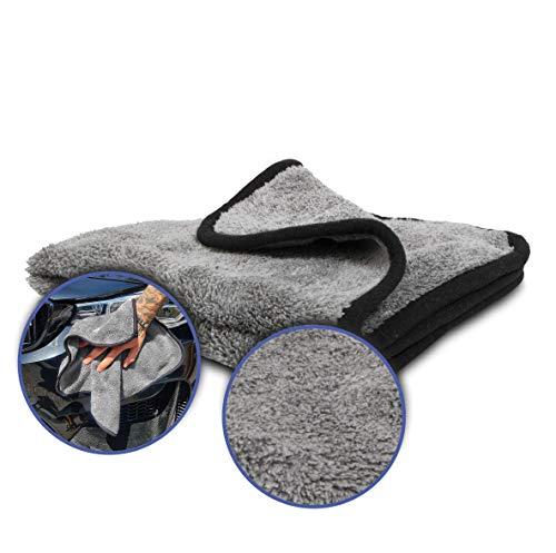 """Mikrofasertuch extrem Saugstark """"NERO"""" - perfekt für die Autopflege & als Trockentuch oder Poliertuch für Innen und Außen, DAS Auto Zubehör, flauschig & weich, Microfasertücher 100% Fusselfrei"""