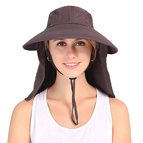 ZHANGYAN Sombreros y Gorras Sombrero de Pescador de Protector Solar al Aire Libre de Verano, Sombrero de Pesca Anti-Ultravioleta, montañismo Impermeable Sombrero Multifuncional (Color : Dark Grey)