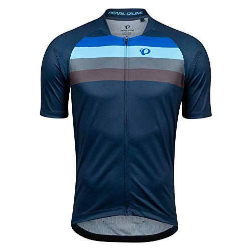 PEARL IZUMI Men's Canyon Graphic Jersey, Navy/Lapis Aspect, XL