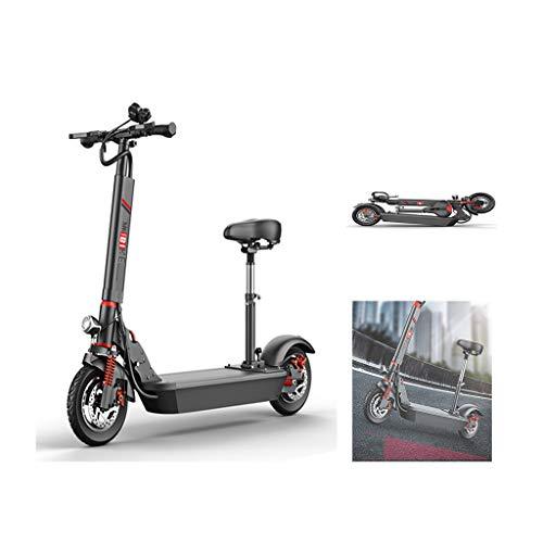 LALAWO 48V 500W Zusammenklappbares Elektrofahrrad Für Erwachsene, Tragbares Elektrisches Citybike Aluminium 10 Zoll Für Einkaufsreisen