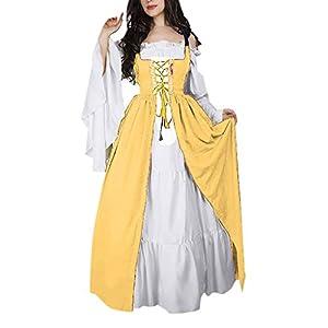 Vestido Medieval Mujer Talla Grande,EUZeo,Renacentista Faldas ...