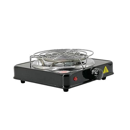 TOSHIN Shisha Kohleanzünder für Shishakohle, 1000W Heat Up Brenner mit Schutzgitter, 5 Stufig regulierbar, Überhitzungsschutz Schwarz