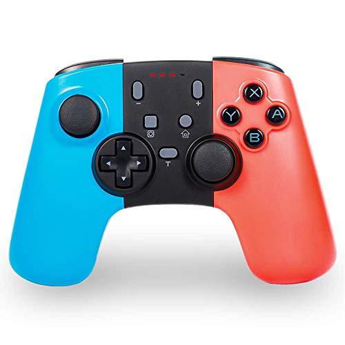 Sefitopher Manette sans Fil pour Nintendo Switch, Switch Pro Remote Joypad Blutooth Gamepad pour Nintendo Switch Console et PC, Supporte Gyro Axis, Turbo et Dual Vibration