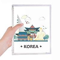 韓国ソウルで有名な観光名所 硬質プラスチックルーズリーフノートノート