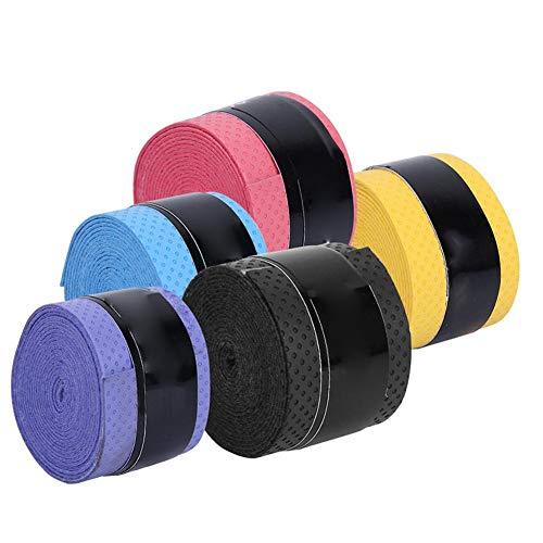 Alianthy PU Anti-Rutsch-Schweißbänder Tape Sportausrüstung für Angelruten Badminton Tennisschläger 60St